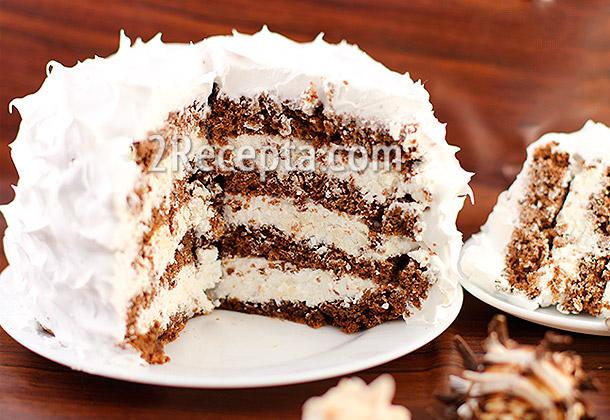 Домашний бисквитный торт с карамельным соусом, рецепты с фото