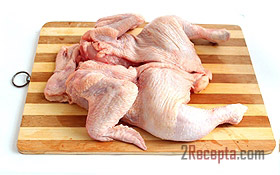 Фаршированная курица, пошаговый рецепт с фото