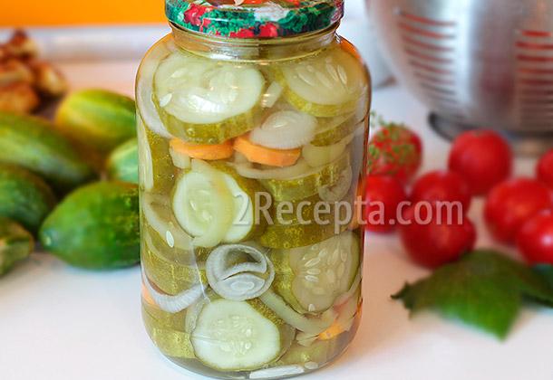 Рецепт засолки резанных огурцов с помидорами на зиму