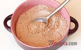 Шоколадная шарлотка с яблоками - рецепт пошаговый с фото
