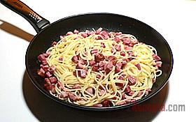 Спагетти карбонара, пошаговый рецепт с фото