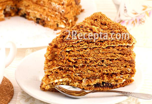 простой рецепт торта медовика