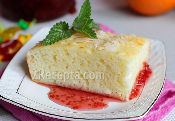 Пирог творожный с пудингом 5