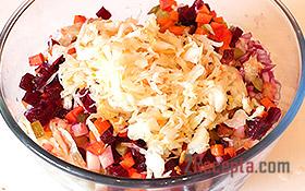 Винегрет, базовый рецепт, пошаговый рецепт с фото