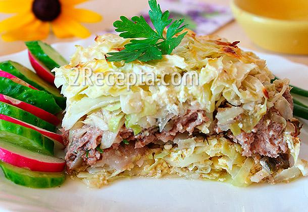 Запеканка капустная с мясом рецепты с фото простые